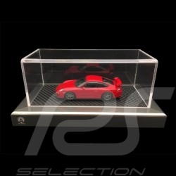 Vitrine showcase 1/43 base aspect carbone / entourage aluminium Acrylique qualité premium
