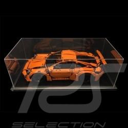 Vitrine showcase dustproof anti-poussière pour Lego Porsche 42056 + 42096 et toute Porsche 1/8 base noire / entourage alu qualit