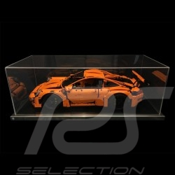 Dustproof showcase for Lego Porsche 42056 + 42096 and all 1/8 Porsche black base / alu surround premium quality