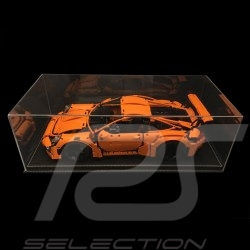 Vitrine display showcase anti-poussière Staubdicht Dustproof pour Lego Porsche 1/8 base noire simili cuir qualité premium