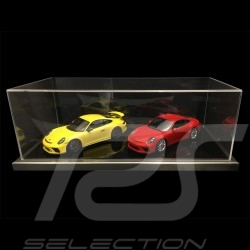 1/12 showcase for Porsche model black base / alu surround premium quality