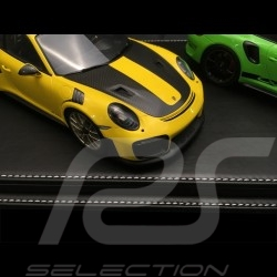 Vitrine display showcase 1/12 pour miniature Porsche base noire / entourage alu qualité premium