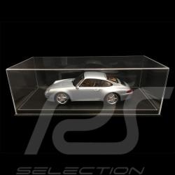 1/12 Vitrine für Porsche Modelle Boden Schwarz Kunstleder mit weißen Nähten premium quality
