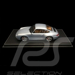 1/12 showcase for Porsche model Black leatherette base premium quality