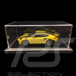 1/18 showcase for Porsche model black base / alu surround premium quality
