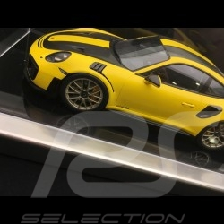Vitrine dispaly showcase 1/18 pour miniature Porsche base noire / entourage alu qualité premium