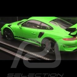 1/18 showcase for Porsche model Black leatherette base premium quality