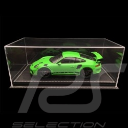 1/18 showcase for Porsche model Black leatherette base premium quality