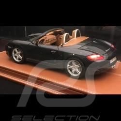 1/18 Vitrine für Porsche Modelle Boden expresso kaffe Kunstleder premium quality