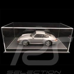 1/18 Vitrine für Porsche Modelle Boden anthrazitgrau Kunstleder premium quality