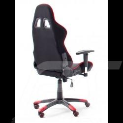 Ergonomischer Bürostuhl Racing RS rot / schwarz Stoff verstellbare Gaming Sessel
