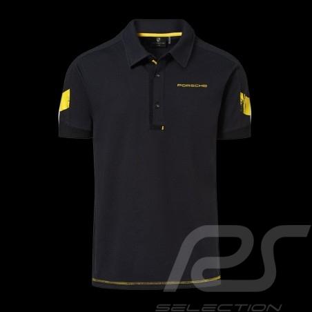 Polo Porsche GT4 Clubsport noir / jaune WAP344LCLS -black yellow schwarz gelb homme men herren