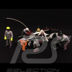 Set figurines diorama Porsche 919 Pit stop 5 mécaniciens 1 pilote 1/43 Spark 43AC011 mechanics driver Mechaniker Rennfahrer