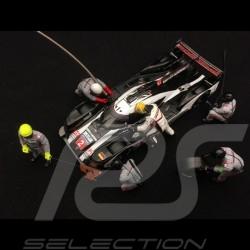 Diorama Set-Figuren Porsche 919 Pit stop 5 Mechaniker 1 Rennfahrer 1/43 Spark 43AC011