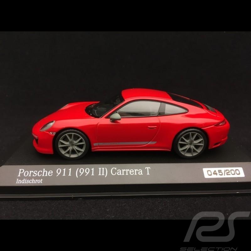 Porsche 911 Carrera T type 991 phase 2 2018 indischrot 1/43 Minichamps CA04319002