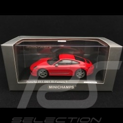 Porsche 911 Carrera T type 991 phase 2 2018 1/43 Minichamps CA04319002 rouge indien guards red indischrot