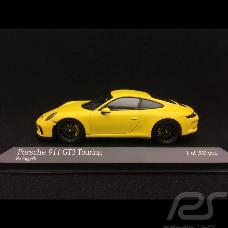 Porsche 911 GT3 type 991 Touring Package 2018 yellow 1/43 Minichamps 410067421