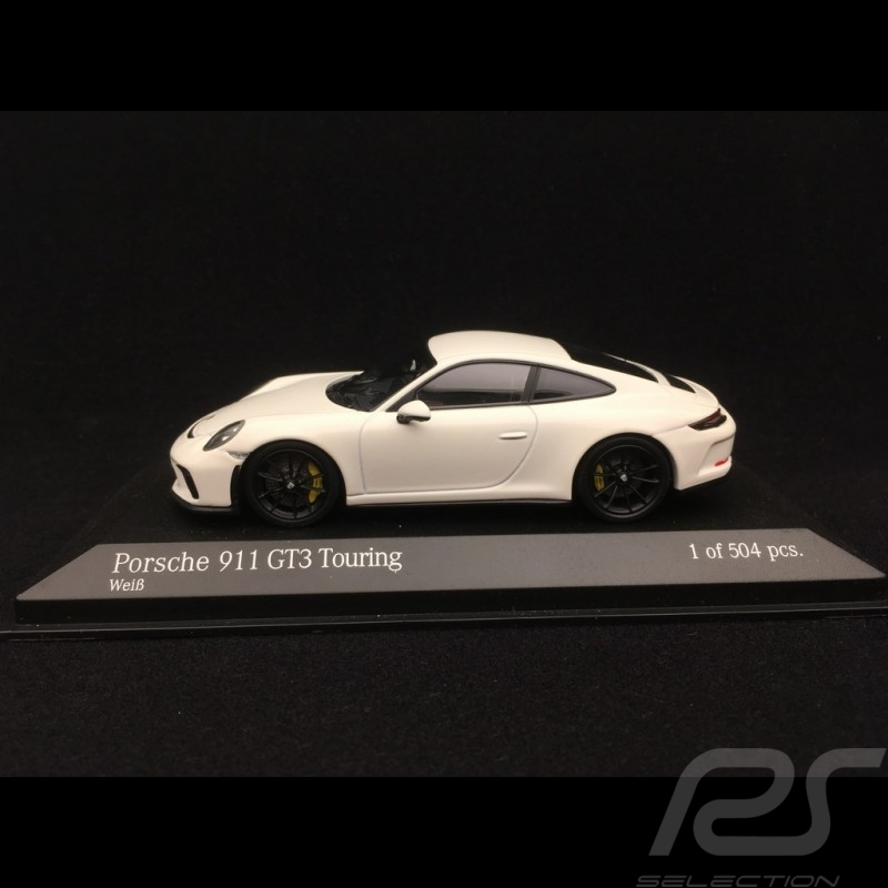 Porsche 911 GT3 type 991 Touring Package 2018 white 1/43 Minichamps 410067420
