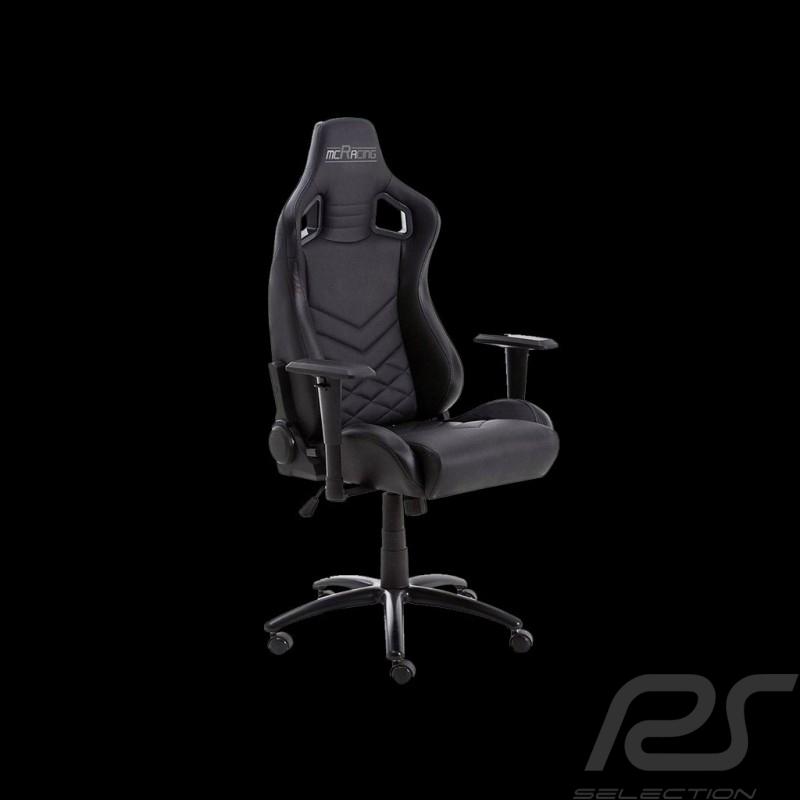 Siège de bureau ergonomique Racing Nova Simili cuir noir  office armchair Ergonomischer Bürostuhl Fauteuil confortable