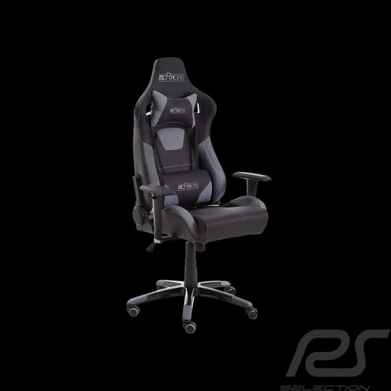 Ergonomic office armchair Racing Nova grey / black Leatherette Comfortable seat