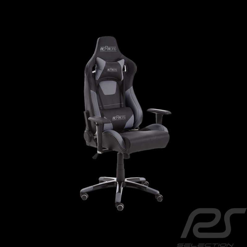 Ergonomischer Bürostuhl Racing Nova grau / schwarz Kunstleder bequemer Sitz