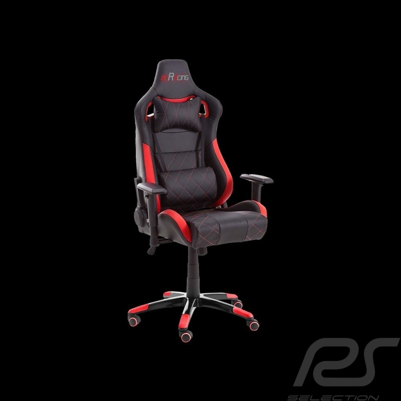 Ergonomischer Bürostuhl Racing Nova rot / schwarz Kunstleder bequemer Sitz