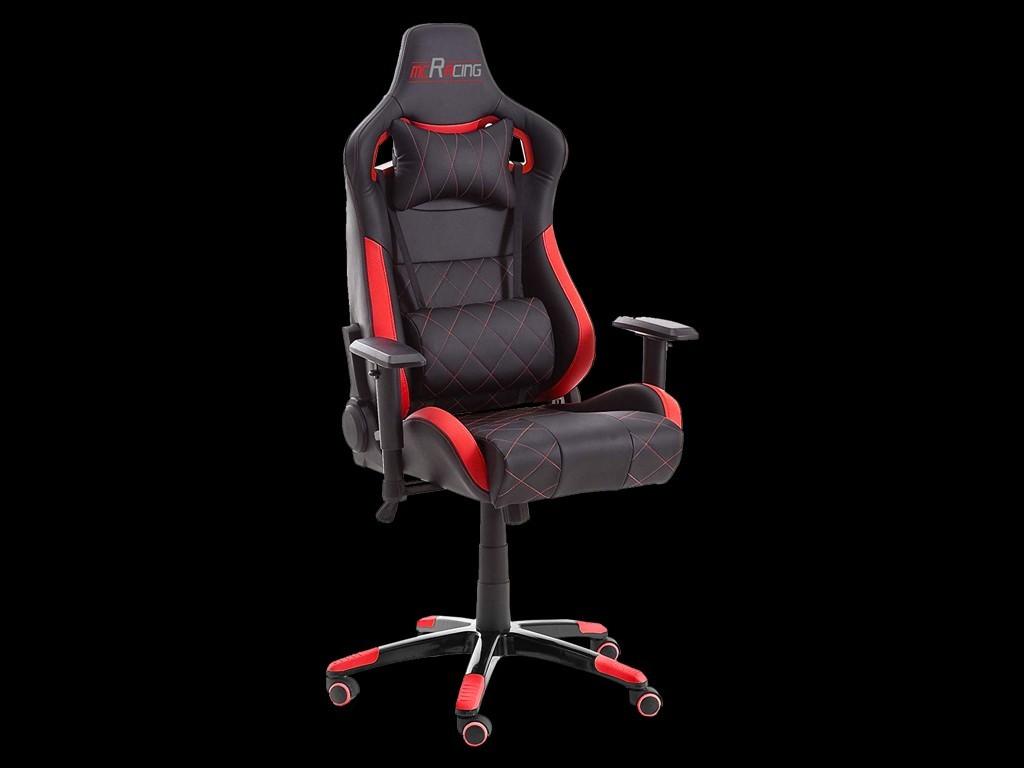 ergonomic office armchair racing nova red black leatherette fortable seat