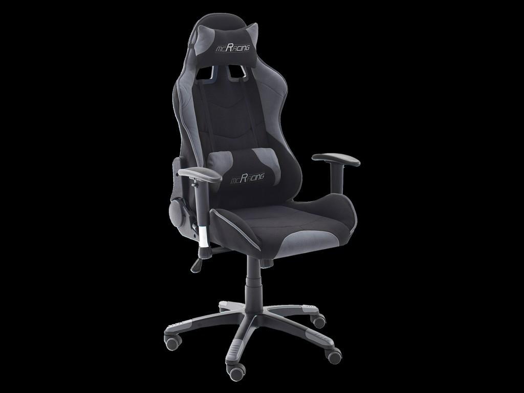 ergonomic office armchair racing rs grey black fabric adjustable gaming chair