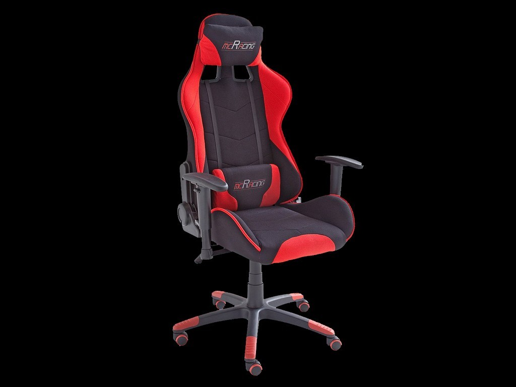 ergonomic office armchair racing rs red black fabric adjustable gaming chair