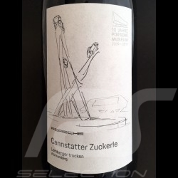 Bottle of red wine 10 years Porsche Museum Cannstatter Zuckerle Würtemberg 2017