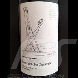 Bouteille de vin 10 ans Porsche Museum Cannstatter Zuckerle Würtemberg 2017 bottle red wine wein flasche