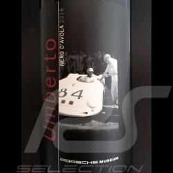 Bottle of red wine Umberto Porsche Museum Terre Siciliane Nero d'Avola 2016