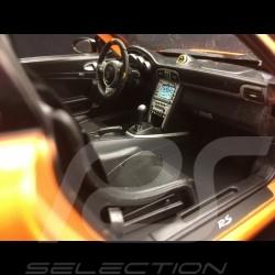 Porsche 911 GT3 RS 997 phase II orange / black stripes 2007 1/18 Welly 18015