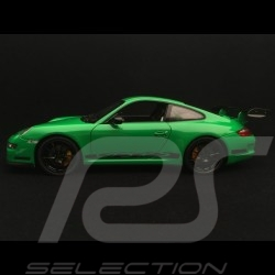 Porsche 911 GT3 RS 997 phase II verte / bandes noires green / black stripes grün / schwarzen streifen 2007 1/18 Welly 18015