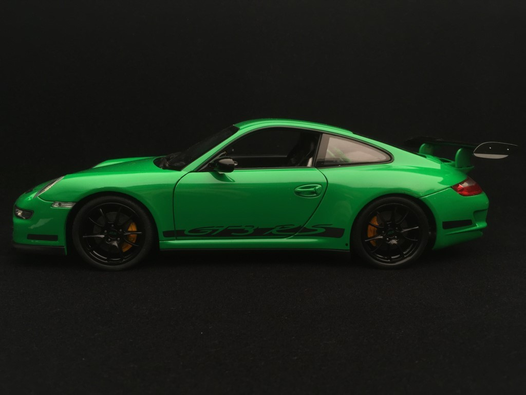 Porsche 911 Gt3 Rs 997 3 6 Ph 1 Green Black Stripes 2007 1 18 Welly 18015 Selection Rs