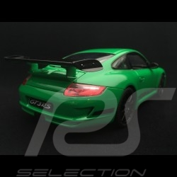 Porsche 911 GT3 RS 997 phase II green / black stripes 2007 1/18 Welly 18015