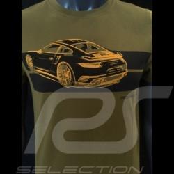 T-shirt Porsche 911 Turbo S vert kaki Porsche Design WAP930K0SR mixte unisex green grün