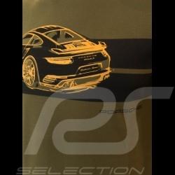 Porsche T-shirt 911 Turbo S khaki green Porsche Design WAP930K0SR - unisex
