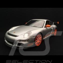 Porsche 911 GT3 RS 997 phase II grey / oranges strips 2007 1/18 Welly 18015