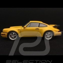 Porsche 911 turbo 964 3.6 jaune vitesse 1993 1/18 Welly 18026