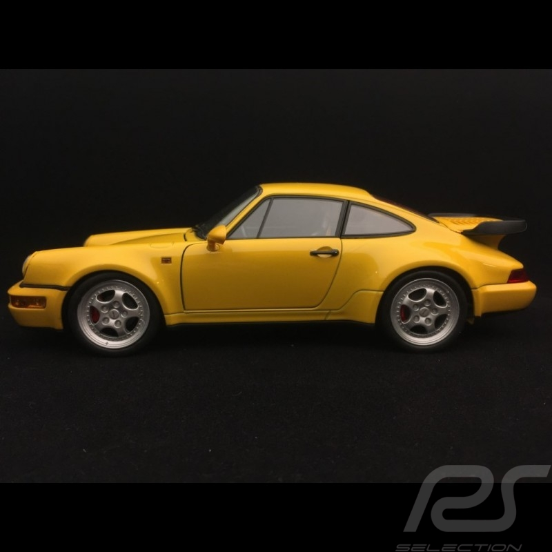 Porsche 911 turbo 964 3.6 speedgelb 1993 1/18 Welly 18026
