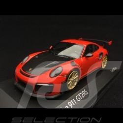 Porsche 911 GT2 RS type 991 2018 1/43 Minichamps 410067229 orange fusion lava lavaorange