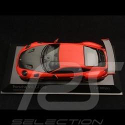 Porsche 911 GT2 RS type 991 2018 lava orange 1/43 Minichamps 410067229