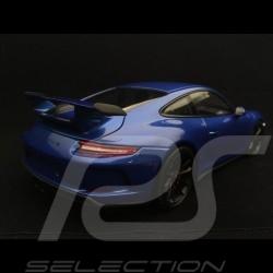 Porsche 911 GT3 type 991 mark II 2017 sapphire blue 1/18 Minichamps 110067030