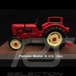 Porsche tracteur Master N 419 rouge red rot 1962 1/32 Atlas 7517003