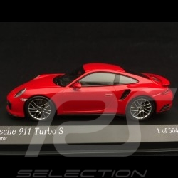 Porsche 911 Turbo S type 991 phase II 2016 1/43 Minichamps 410067170 rouge indien guards red indischrot