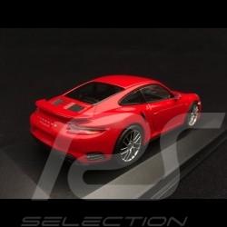 Porsche 911 Turbo S type 991 phase II 2016 1/43 Minichamps 410067170 rouge indien guards red indischrot