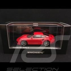 Porsche 911 Turbo S type 991 mark II 2016 guards red 1/43 Minichamps 410067170