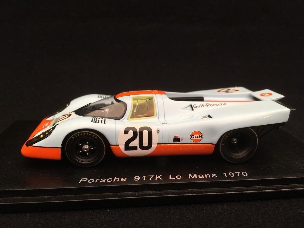 Porsche 917 K n° 20 Gulf 24h du Mans 1970 1//43 Spark S1969