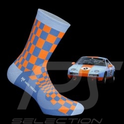 928 GT Pasha Socken Gulfblau / orange - Unisex